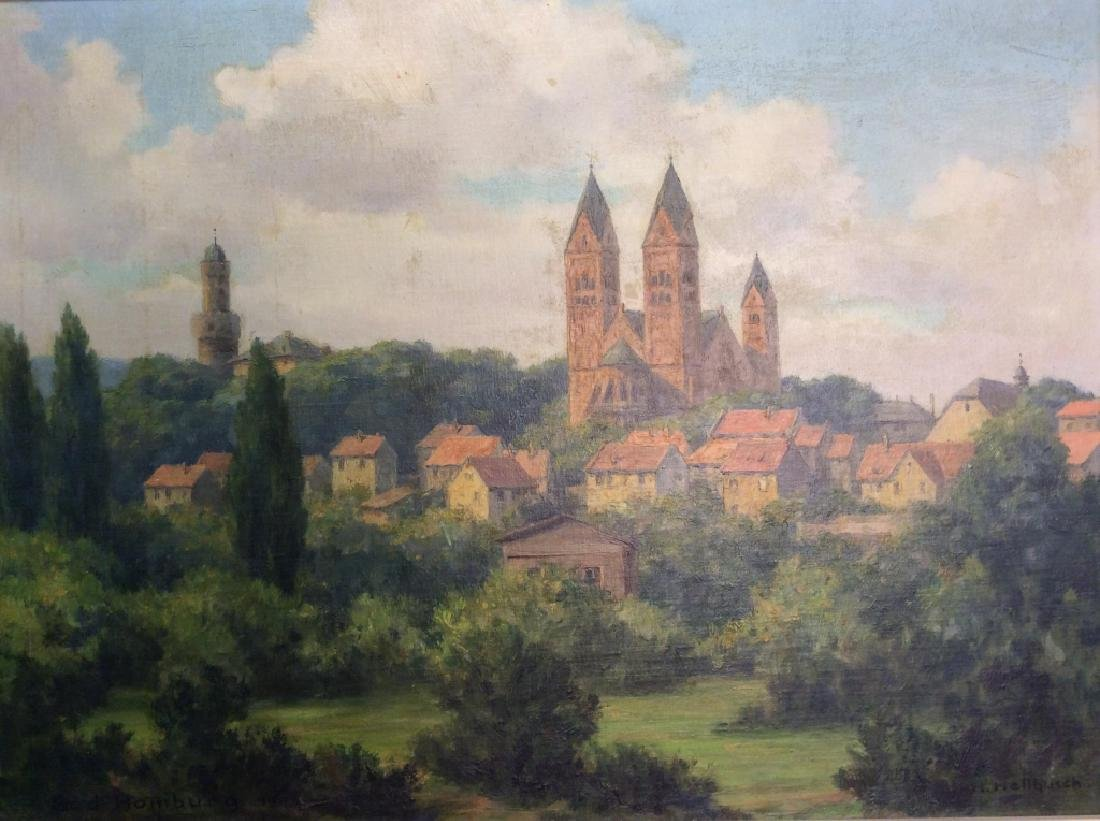 Bad Homburg 1945 Oil Painting by H.Hellbusch - 4