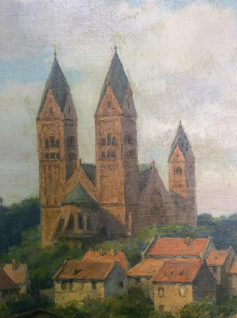 Bad Homburg 1945 Oil Painting by H.Hellbusch - 7