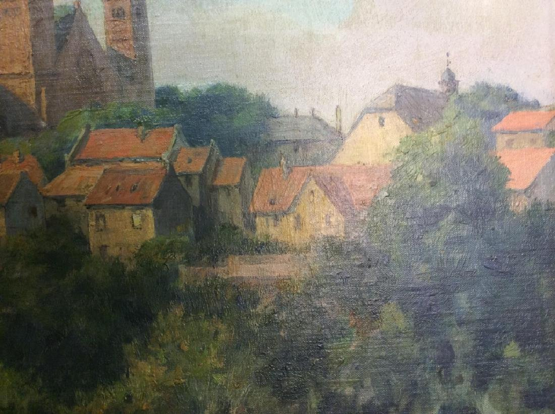 Bad Homburg 1945 Oil Painting by H.Hellbusch - 8