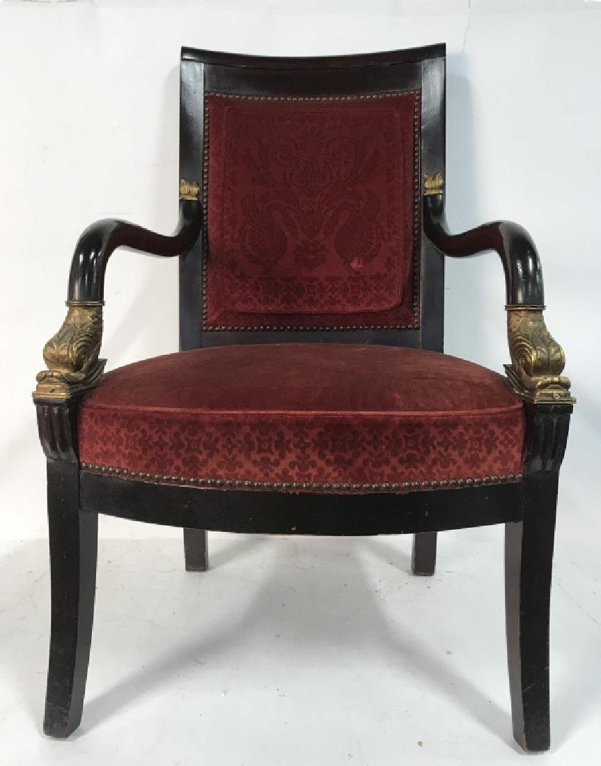 Antique French Napoleon III Louis XVI Arm Chair