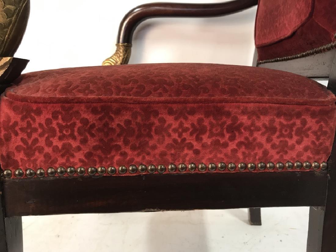 Antique French Napoleon III Louis XVI Arm Chair - 4