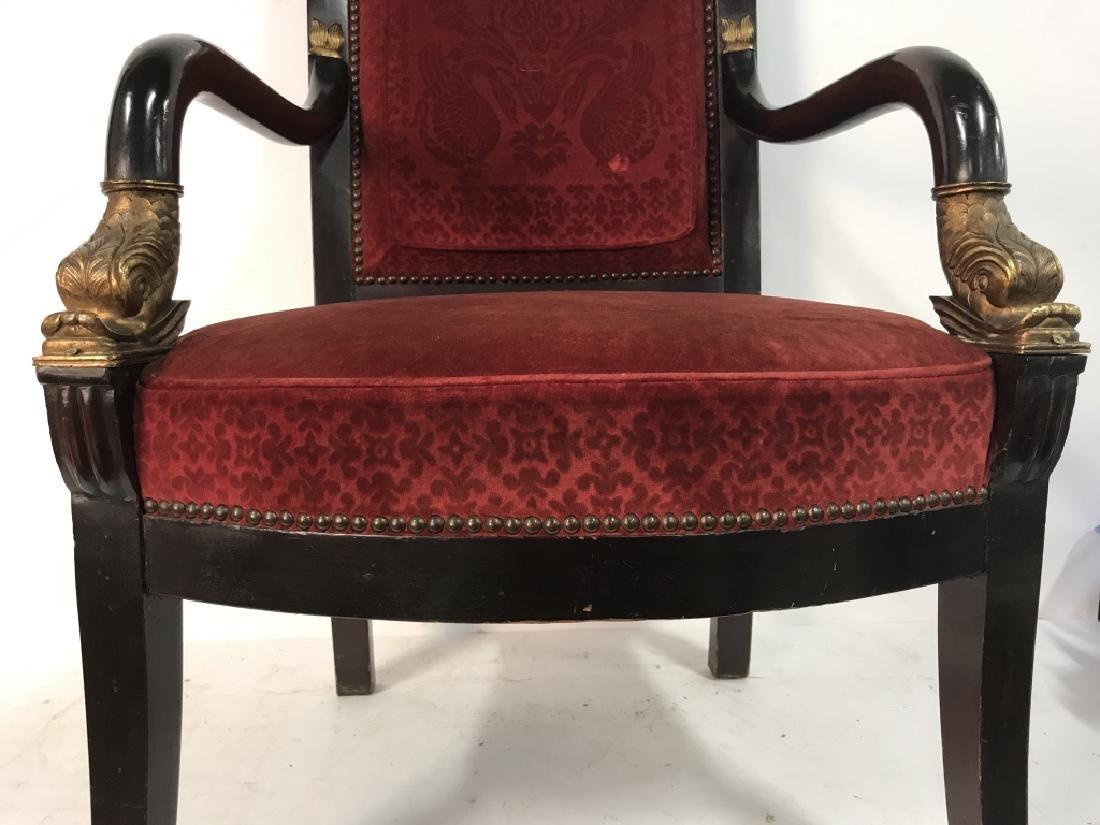 Antique French Napoleon III Louis XVI Arm Chair - 9