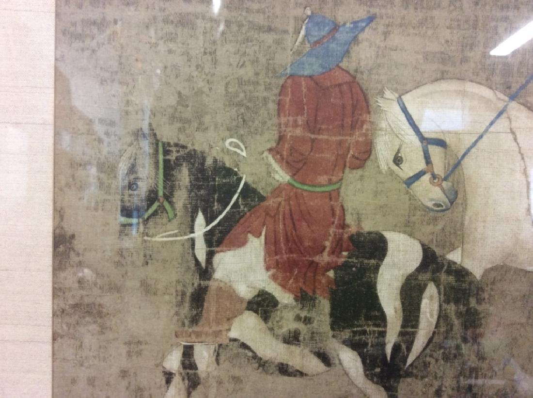Asian Horse and Rider Art Print on Paper - 10