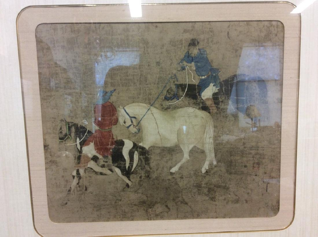 Asian Horse and Rider Art Print on Paper - 3