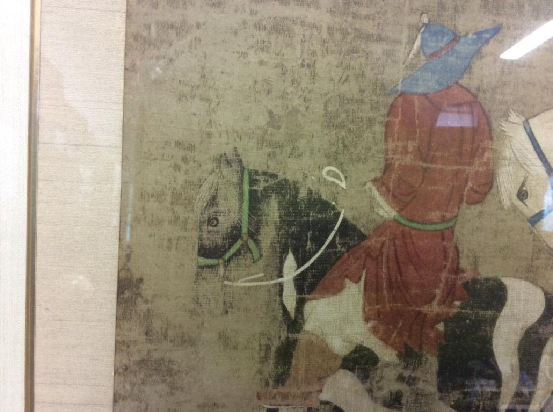 Asian Horse and Rider Art Print on Paper - 9