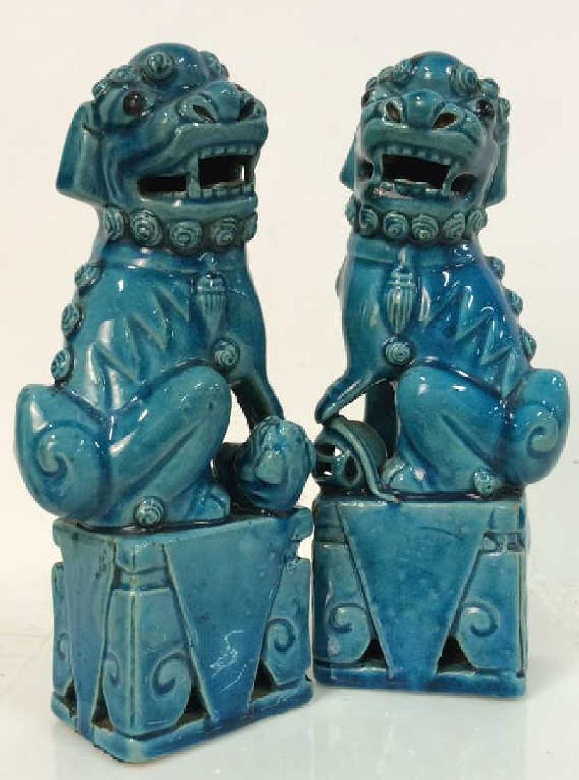 Vintage/Antique Pair Ceramic Foo Dogs