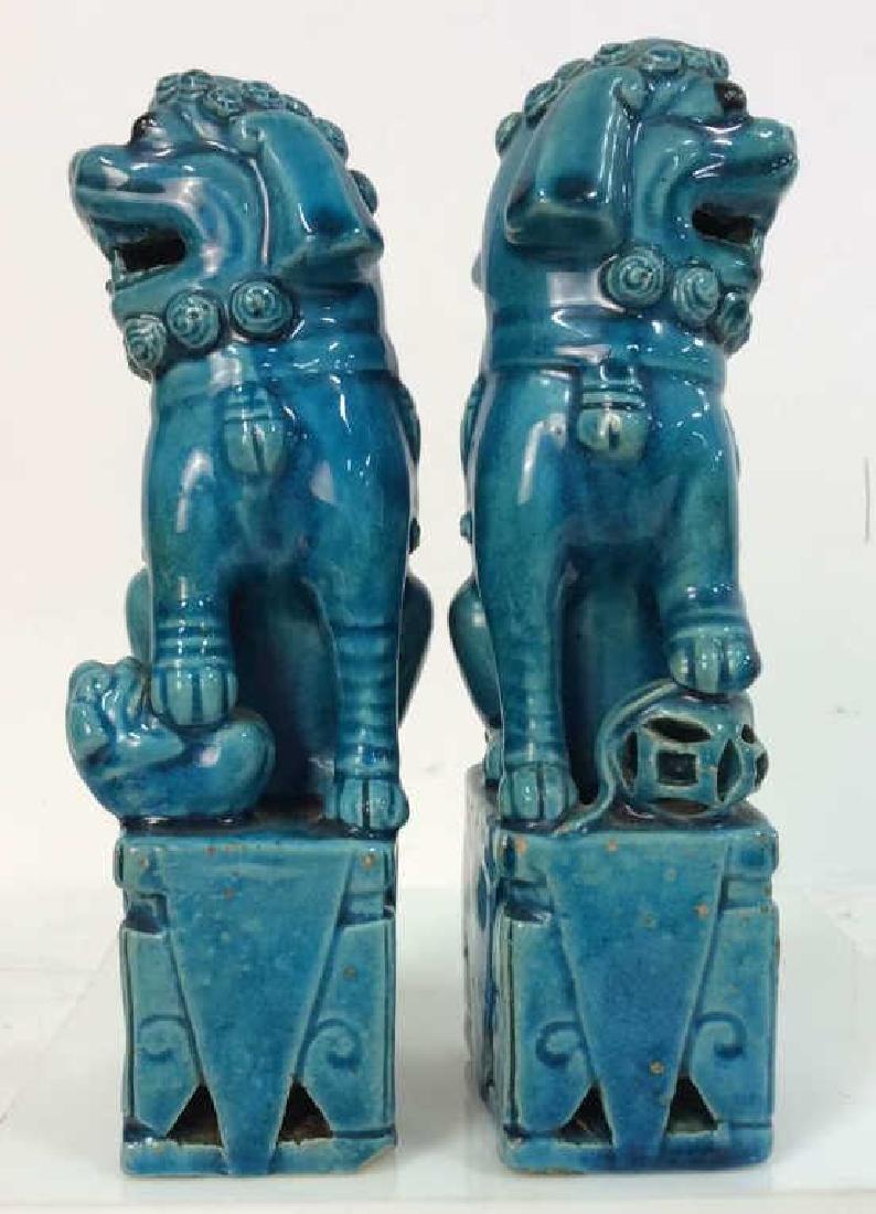 Vintage/Antique Pair Ceramic Foo Dogs - 3