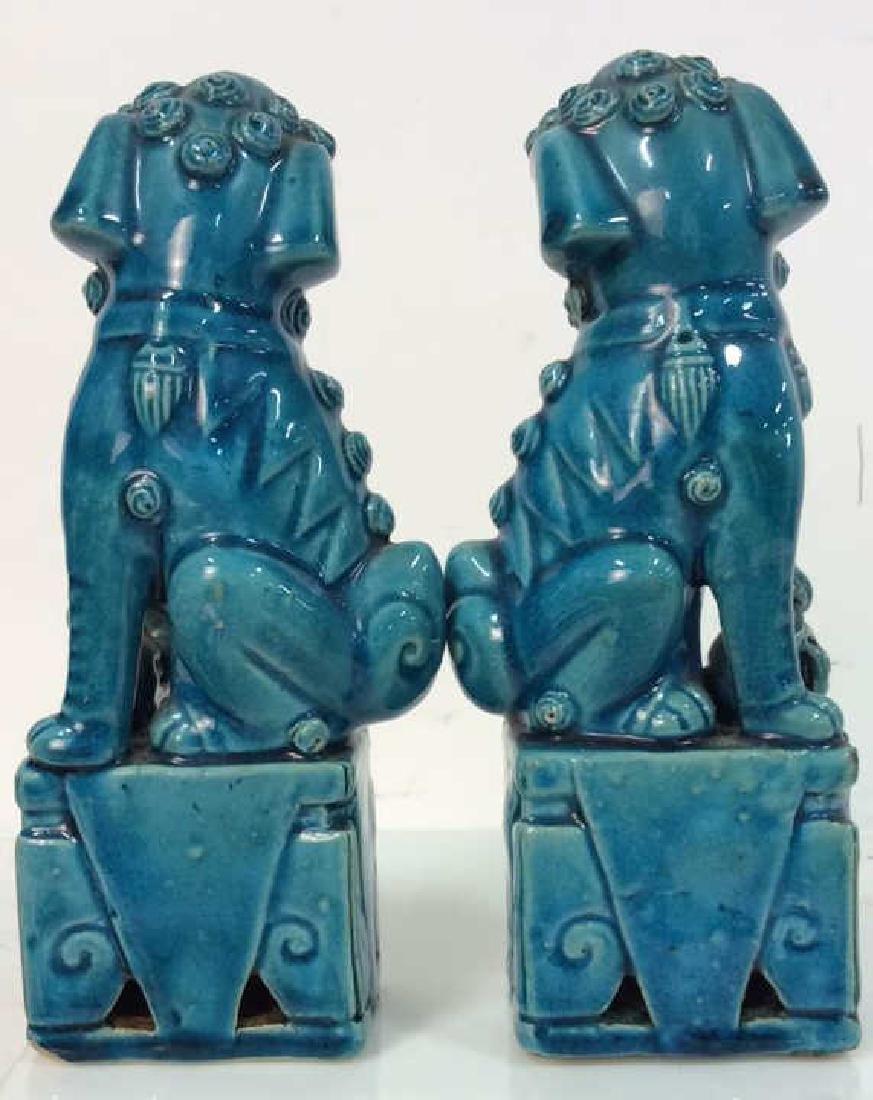 Vintage/Antique Pair Ceramic Foo Dogs - 4