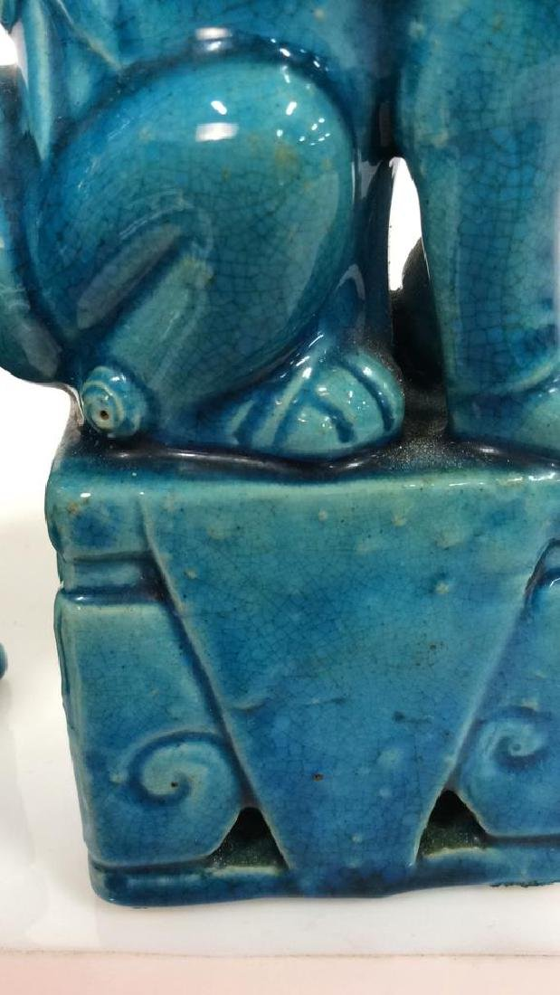 Vintage/Antique Pair Ceramic Foo Dogs - 9