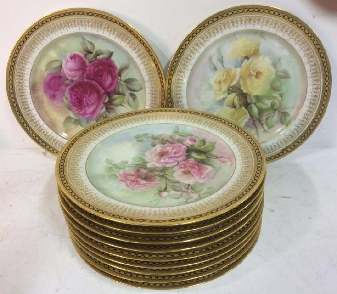 11 Antique Haviland France Painted Porcelain - 2