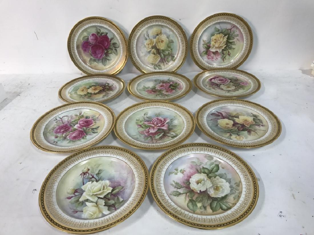 11 Antique Haviland France Painted Porcelain - 3