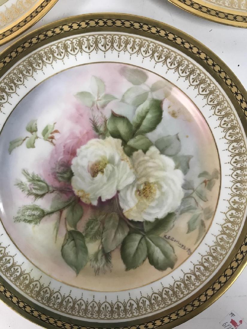 11 Antique Haviland France Painted Porcelain - 4