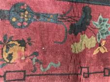 Handmade Antique Chinese Art Deco Wool Rug