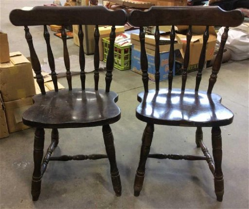 Antique Wooden Chairs >> Lot 2 Poss Antique Wooden Chairs