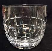 STEPHENS Signed Cut Crystal Vase