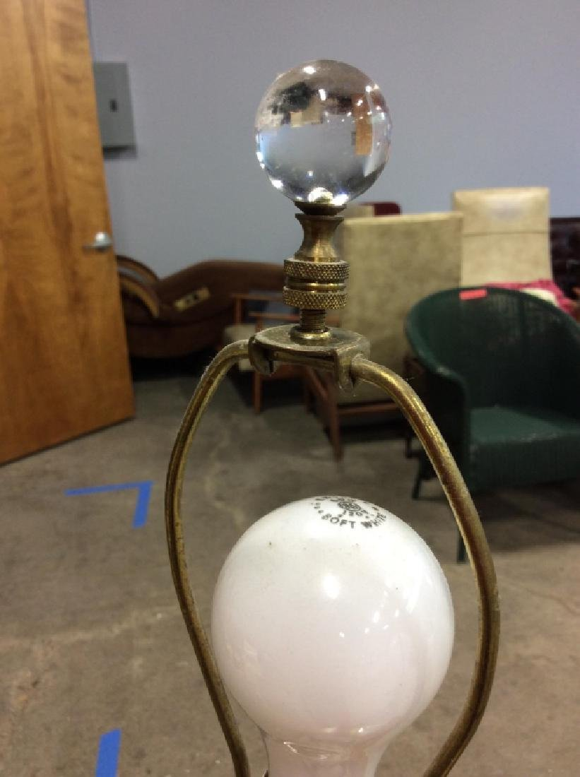 Pair Vintage Cut Crystal/Glass Table Lamps - 7