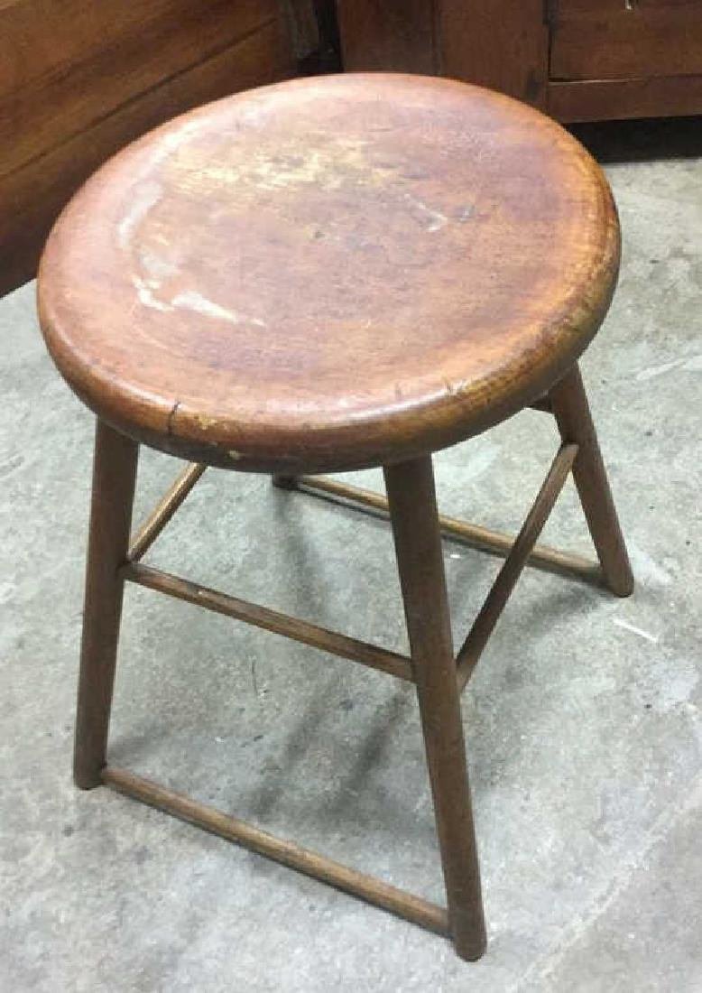 Brown Toned Vintage Wooden Stool