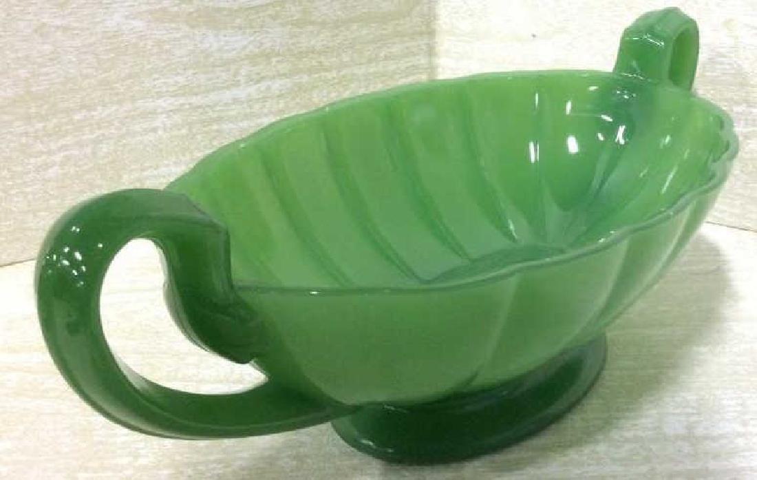 Green Toned Art Glass Decorative Bowl - 2