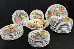 27 Pieces of Italian Hand Painted Plates