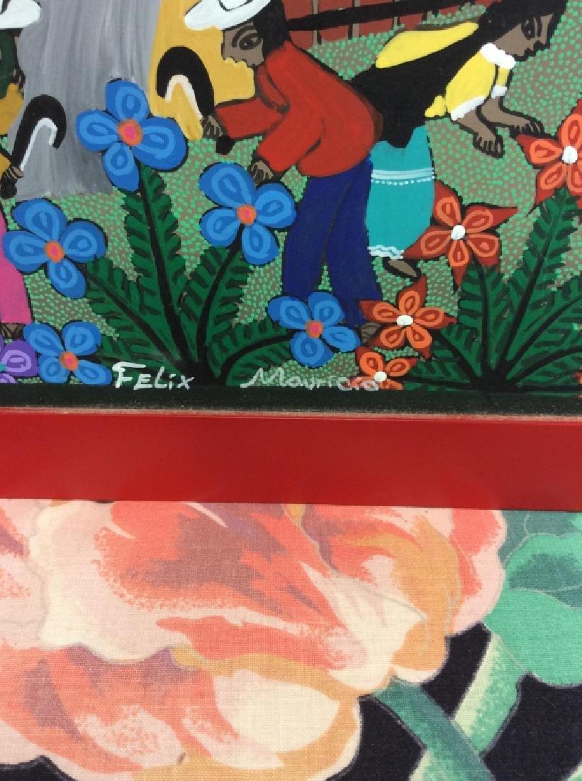 FELIX MAURICIO Mexican Folk Art Painting On Board - 3