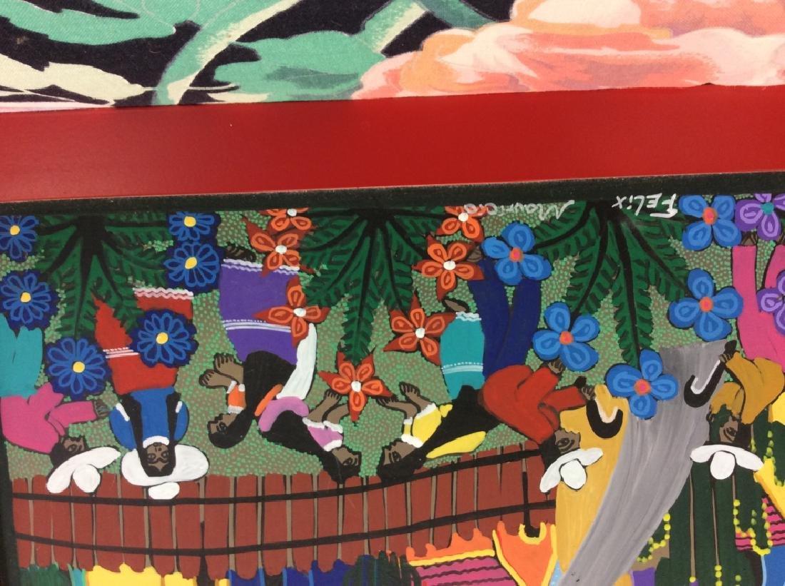 FELIX MAURICIO Mexican Folk Art Painting On Board - 4