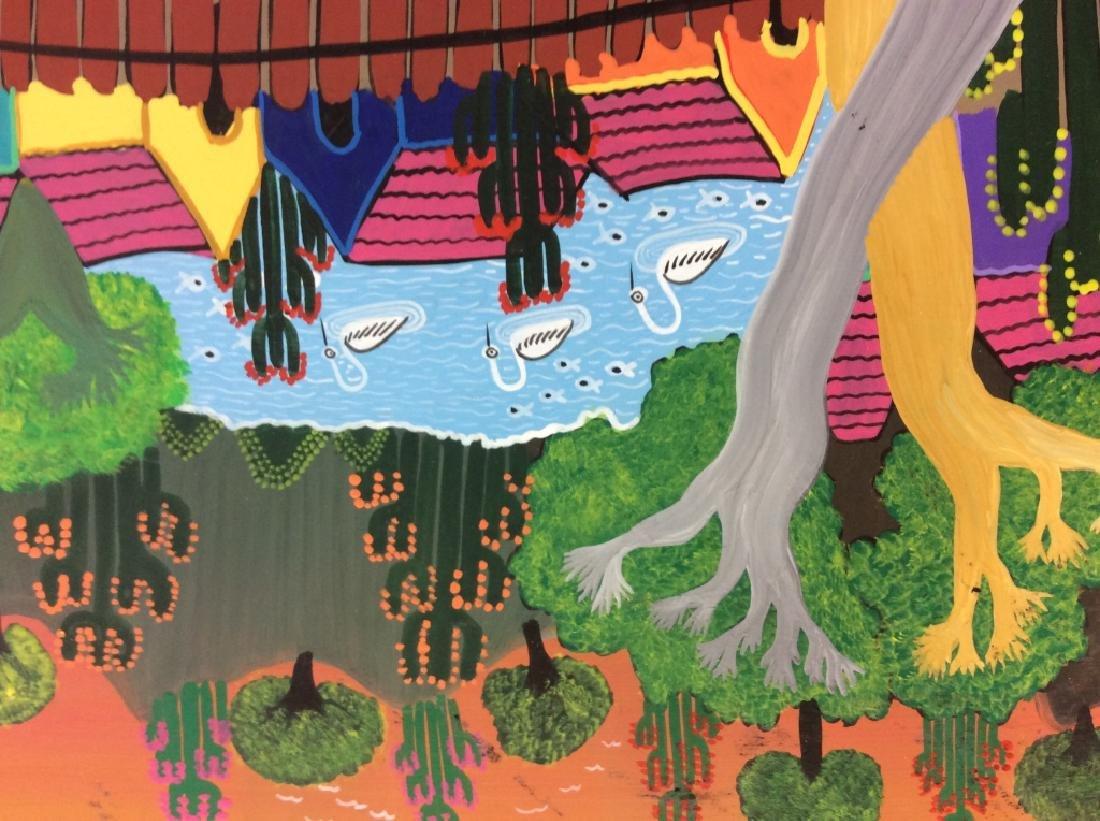 FELIX MAURICIO Mexican Folk Art Painting On Board - 5