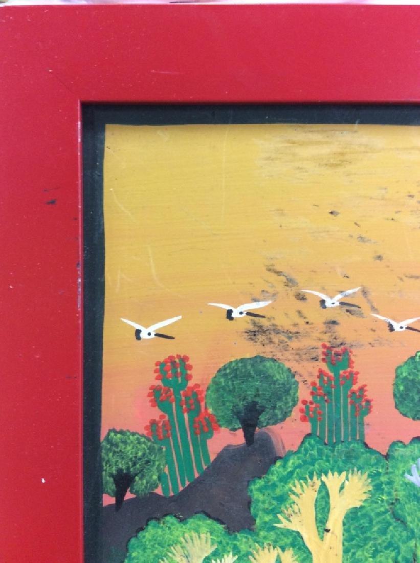 FELIX MAURICIO Mexican Folk Art Painting On Board - 7