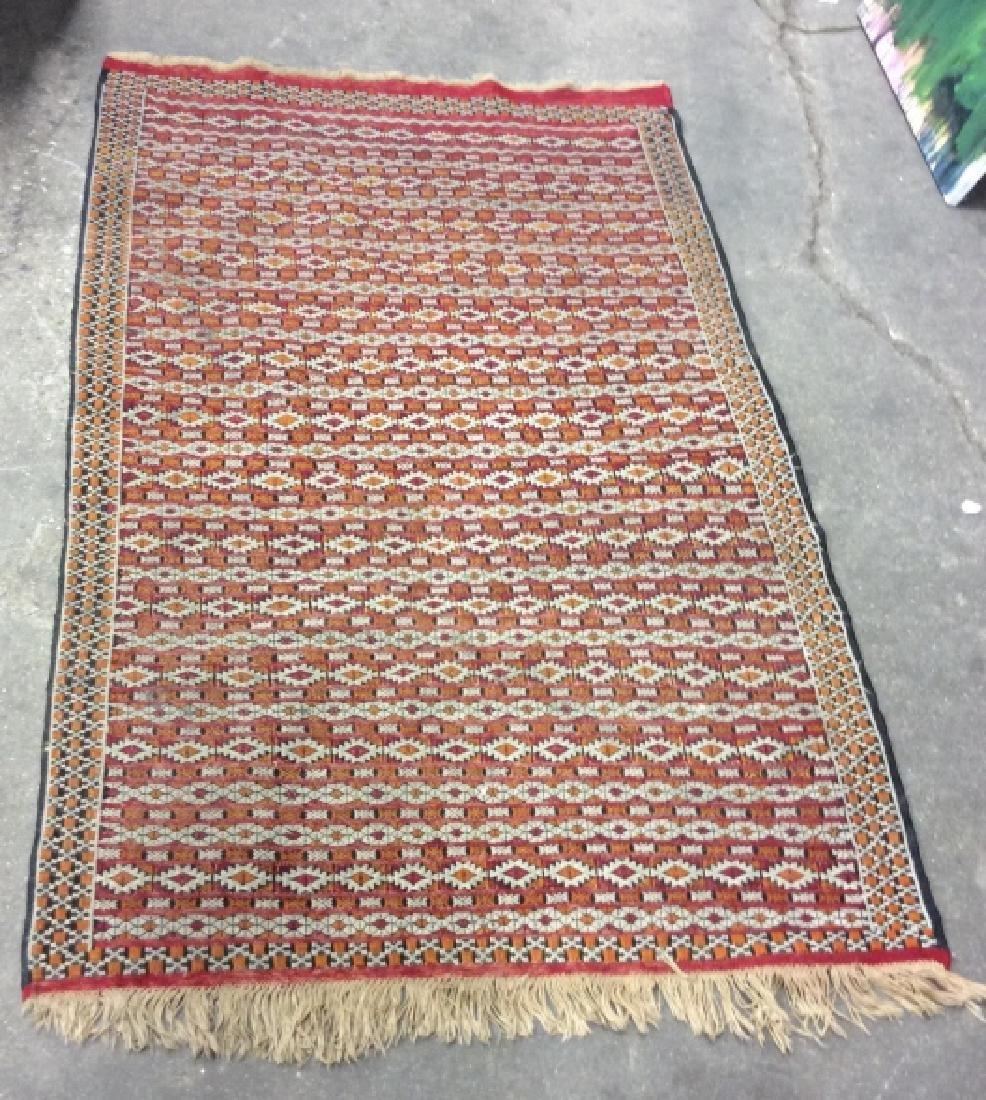 Vintage Handmade Oriental Rug Carpet - 2