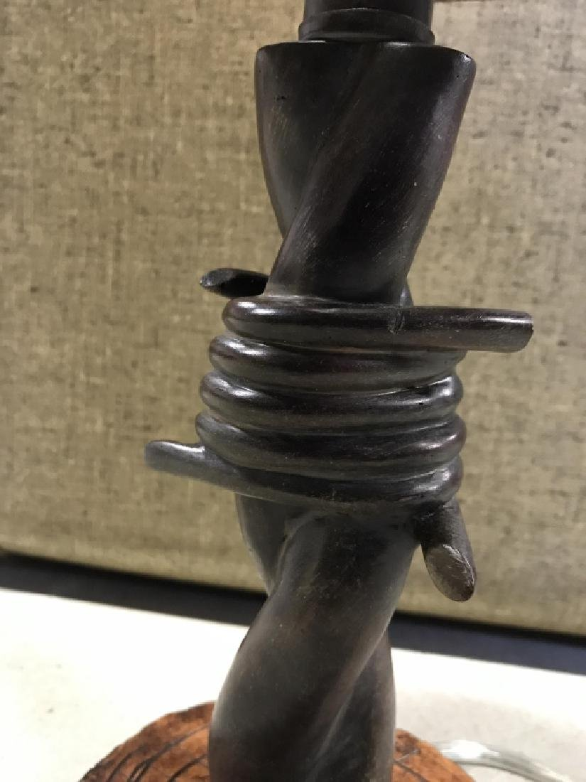 Barbed Wire Style Sculptural Table Lamp - 4
