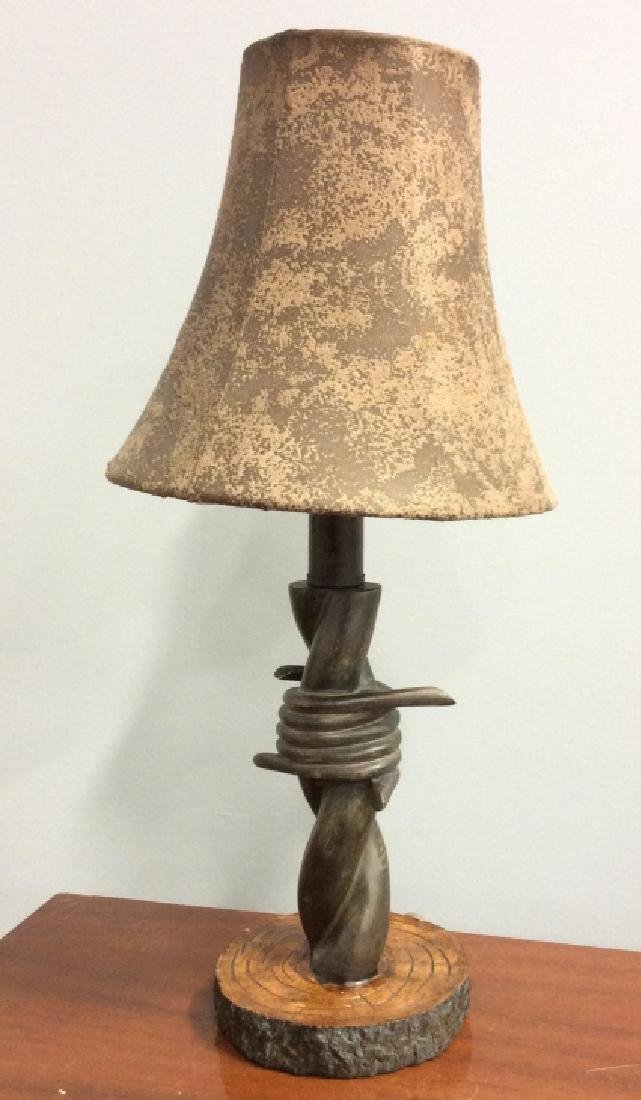 Barbed Wire Style Sculptural Table Lamp