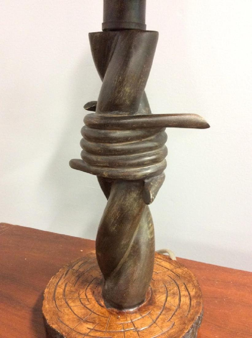 Barbed Wire Style Sculptural Table Lamp - 2