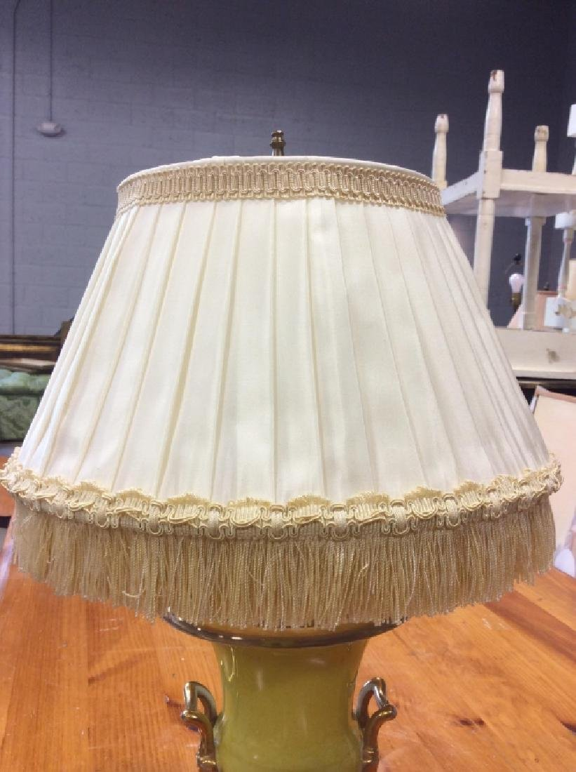 Metal Lemon Yellow Trophy Table Lamp - 3
