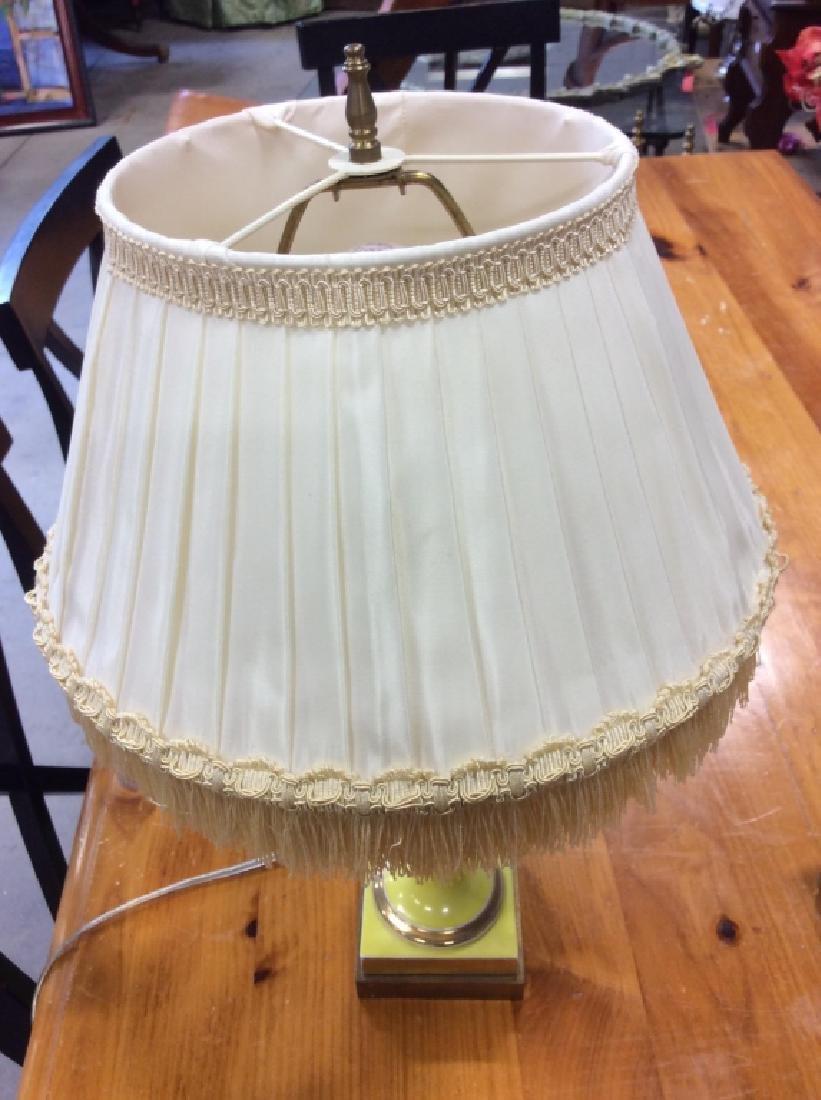 Metal Lemon Yellow Trophy Table Lamp - 7