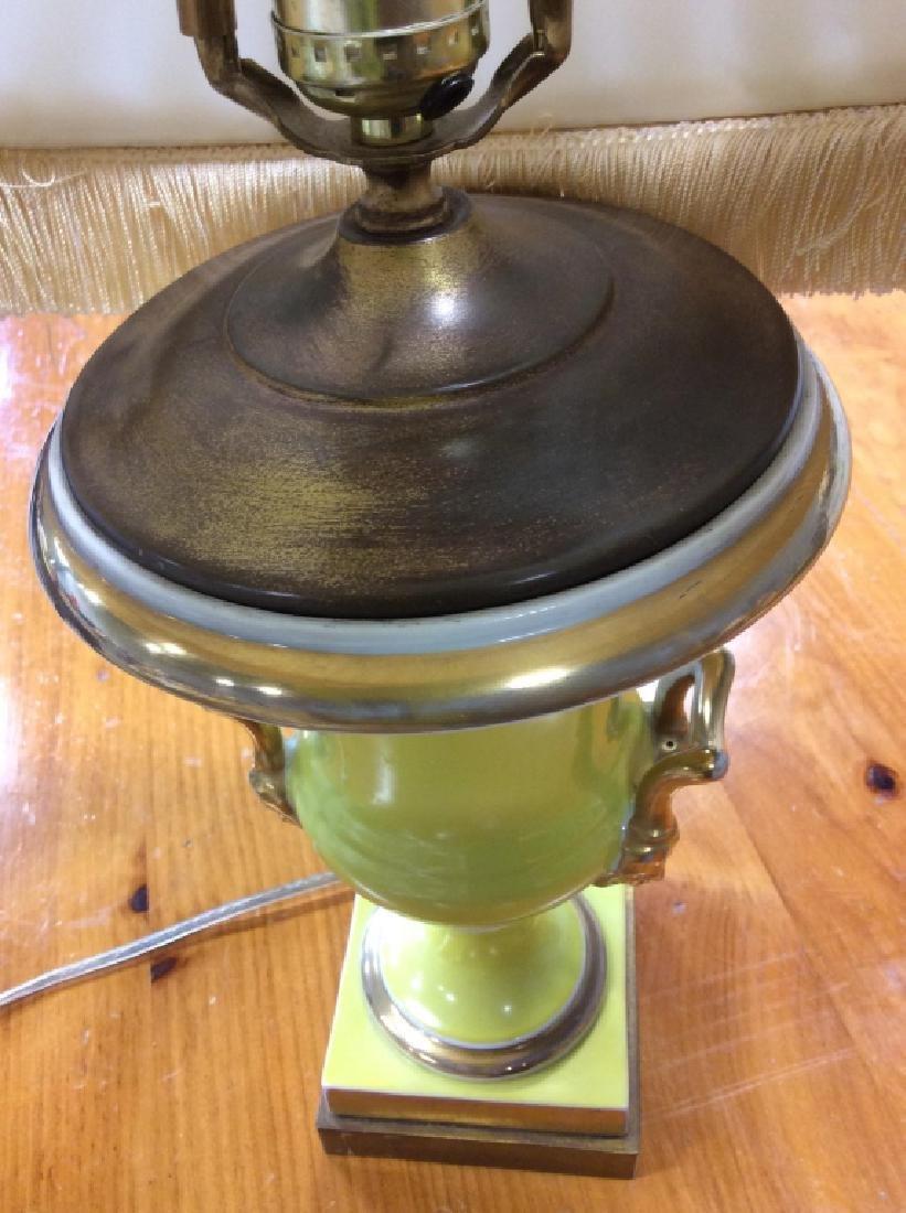 Metal Lemon Yellow Trophy Table Lamp - 9