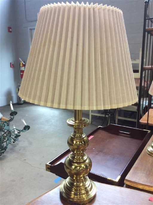 Stiffel Gold Toned Brass Table Lamp