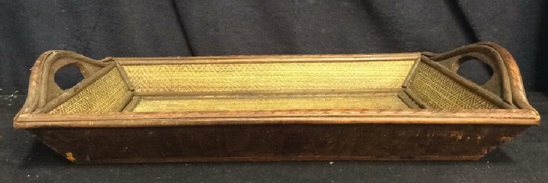 Woven Wooden Serving Tray - 2