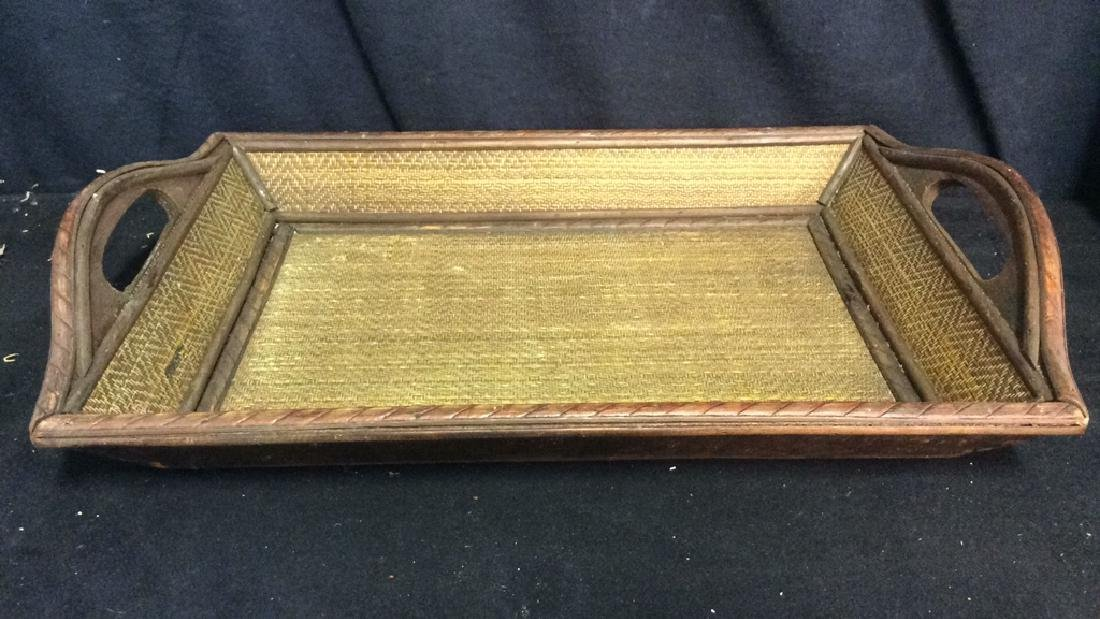 Woven Wooden Serving Tray - 3