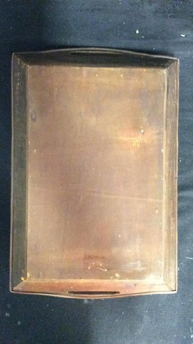 Woven Wooden Serving Tray - 6