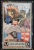 UNDERGROUND Train Vintage Advertising Poster