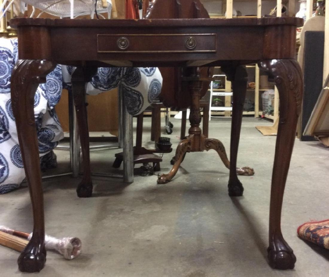 Chippendale Style Wood 2 Side Game Table - 2