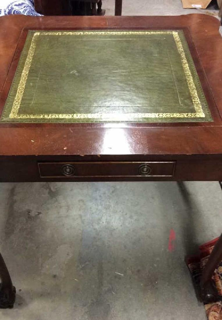 Chippendale Style Wood 2 Side Game Table - 9