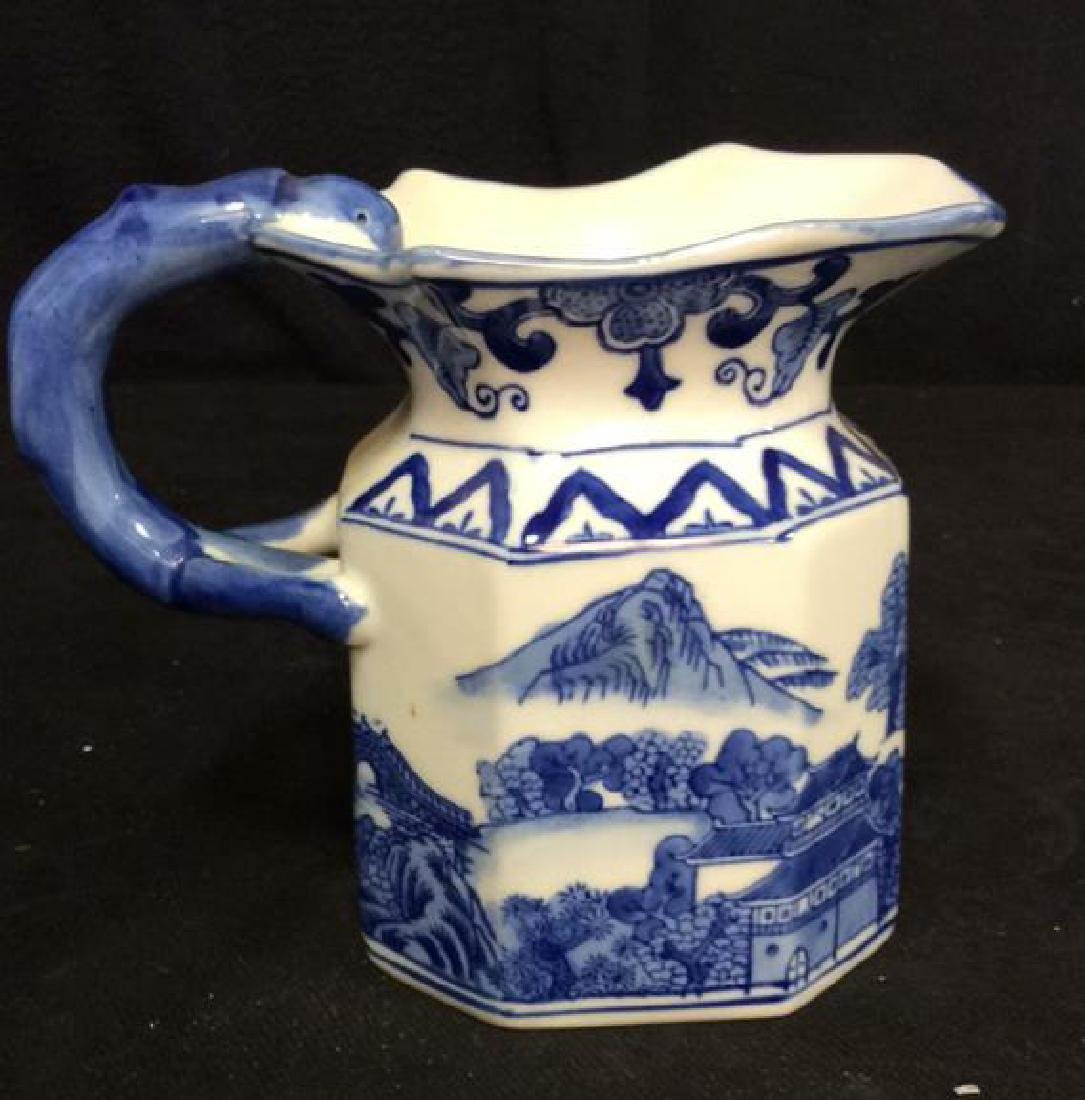 Blue and White Chinese Ceramic Pitcher