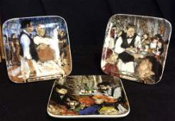 Set 3 WILLIAMS-SONOMA Square Decorative Plates
