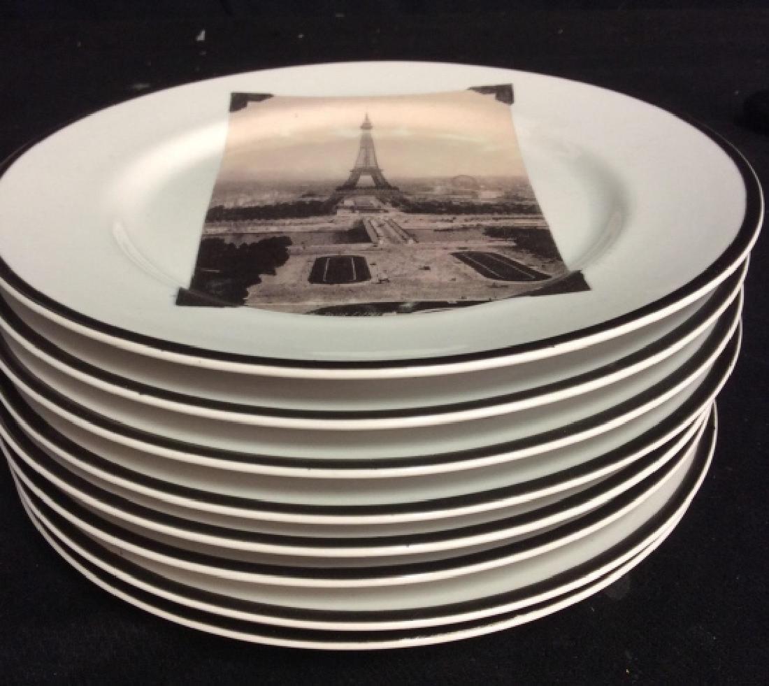 Set 8 ROSANNA Eiffel Tower Plates