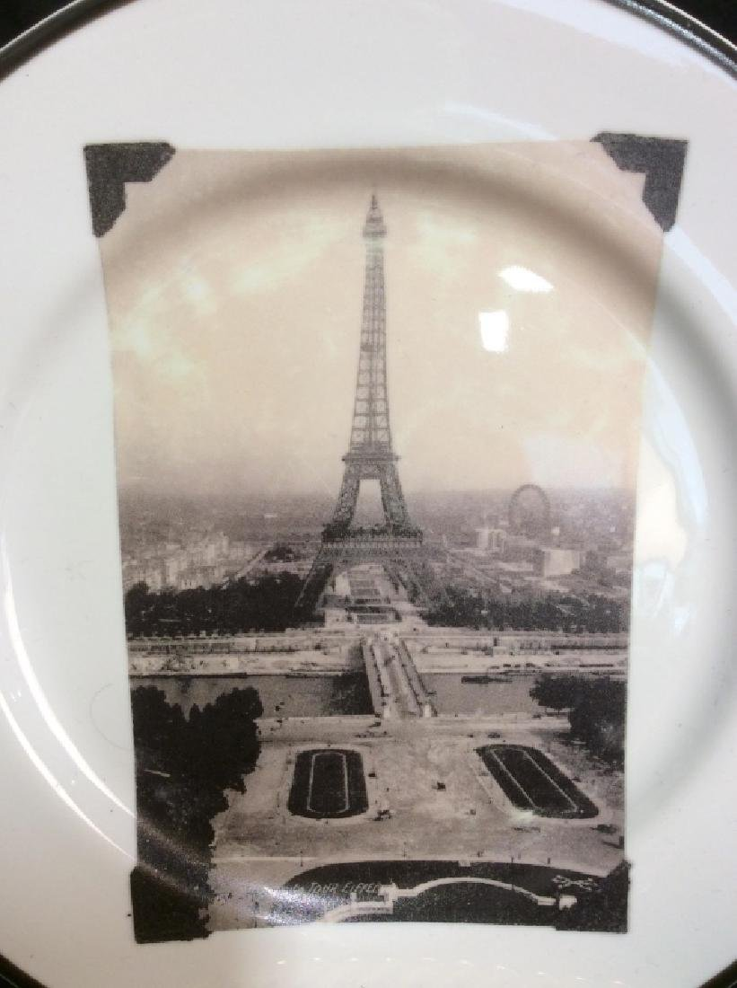 Set 8 ROSANNA Eiffel Tower Plates - 3