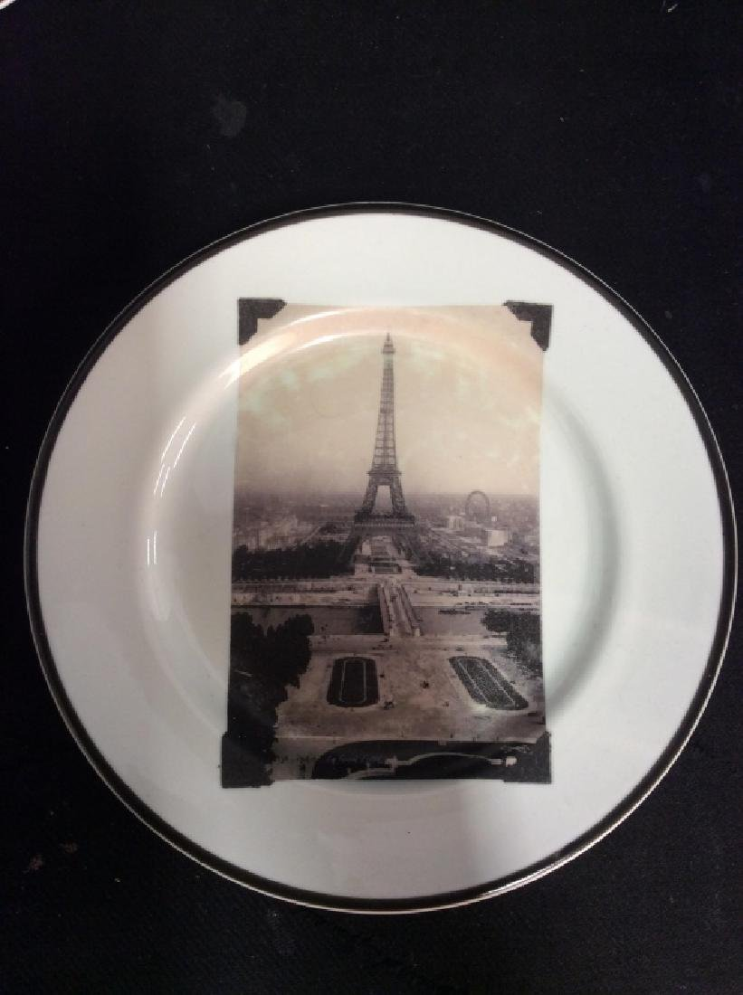 Set 8 ROSANNA Eiffel Tower Plates - 5
