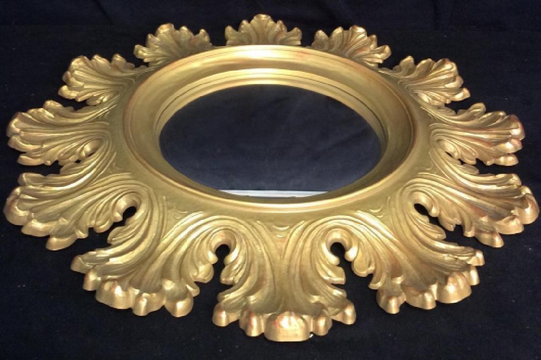 Circular Composite Suburst Wall Mirror - 2