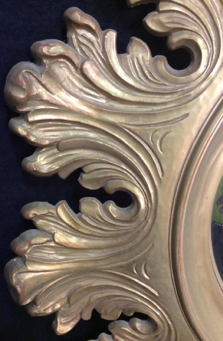 Circular Composite Suburst Wall Mirror - 8