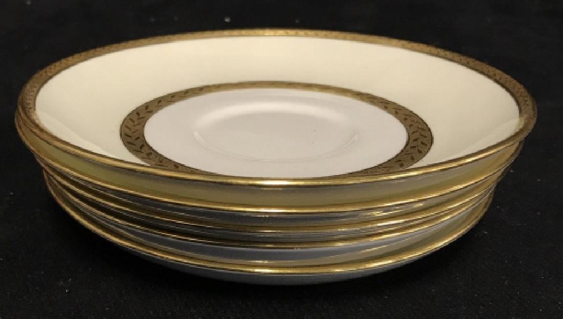 Set 5 Mintons England Porcelain Tea Cup Saucers