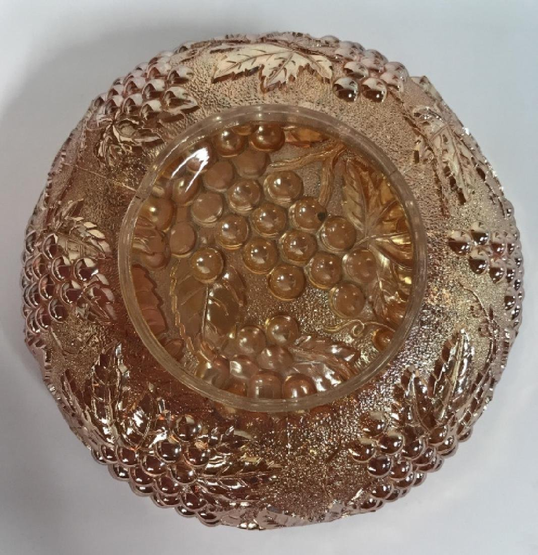 Orange Gold Pearlescent Carnival Glass Bowl - 5